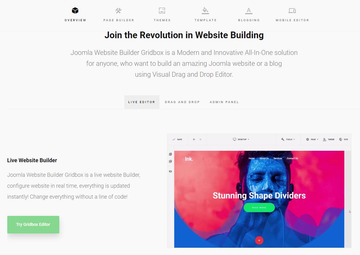 Cómo gestionar tu blog con Joomla y Gridbox
