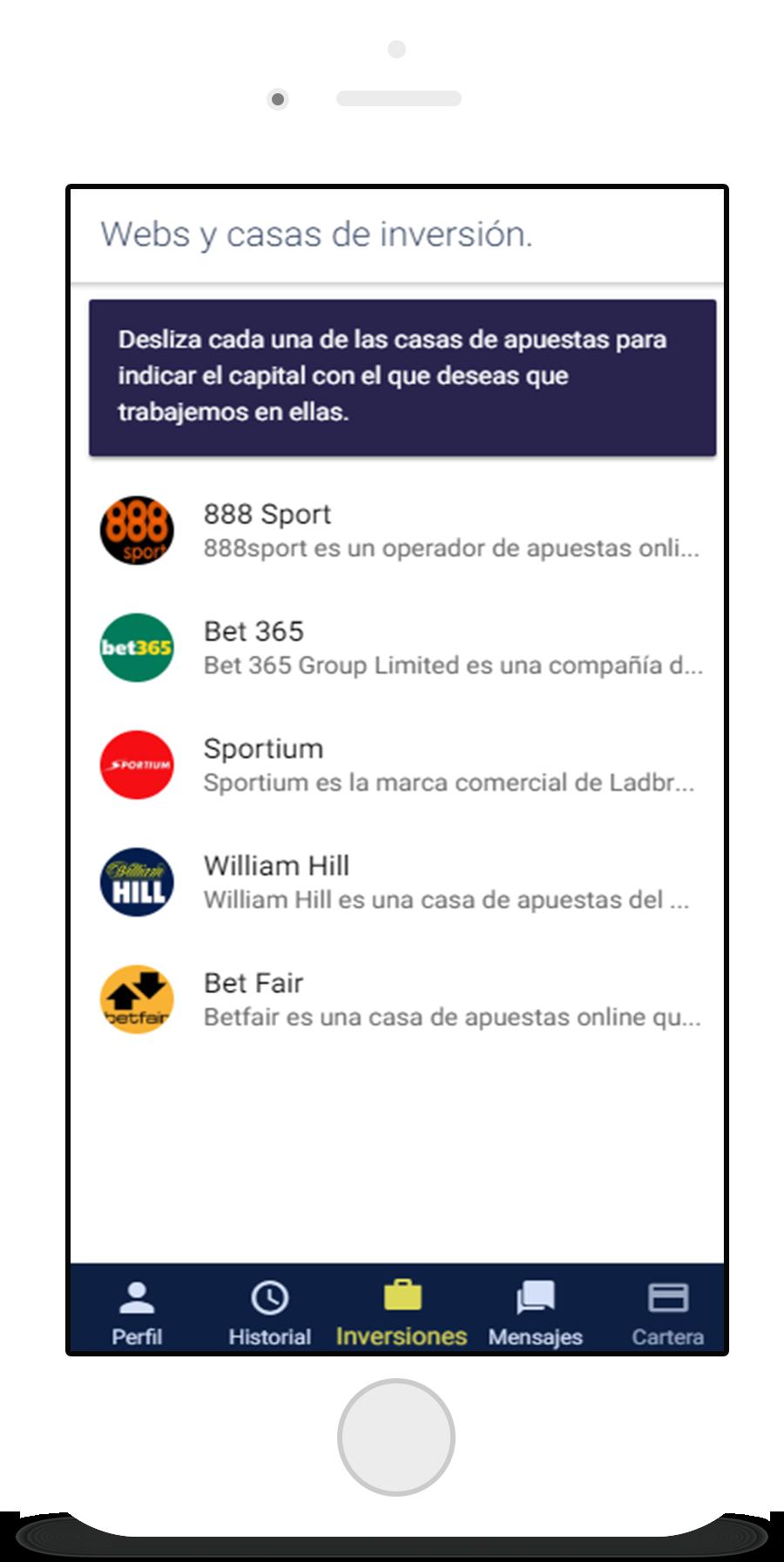 captura de pantalla móvil de be betting