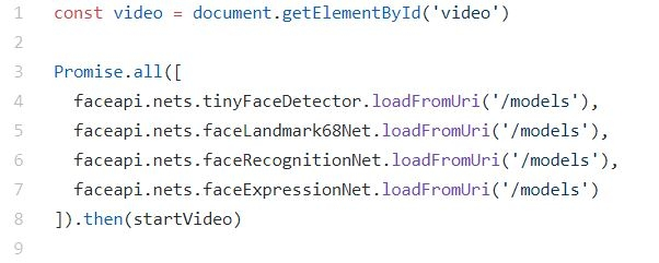 coding snippet