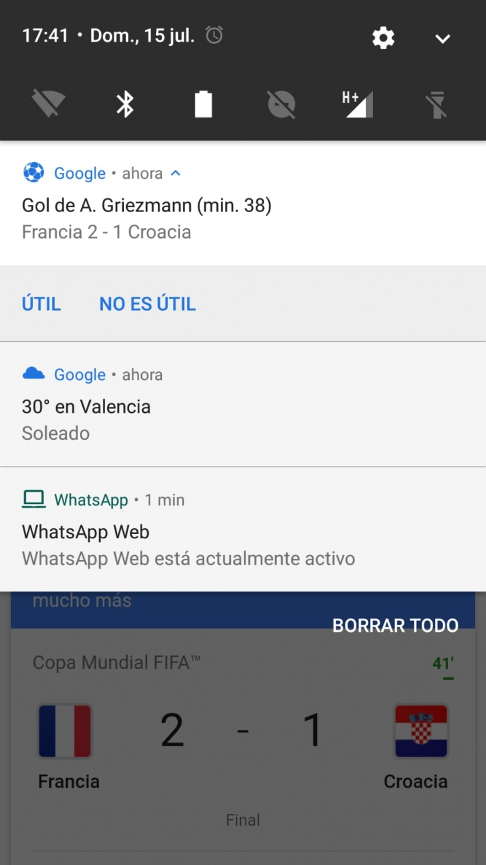 Screen de Google service