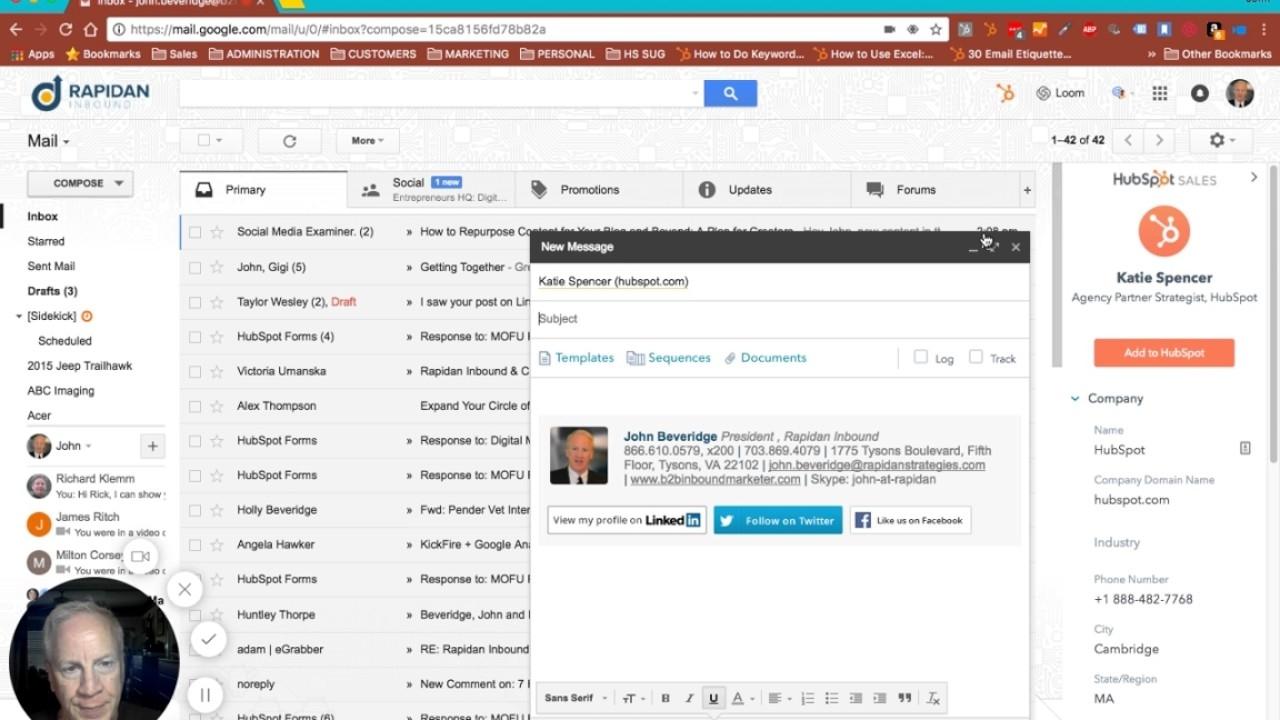 PLugin de hubspot para gmail